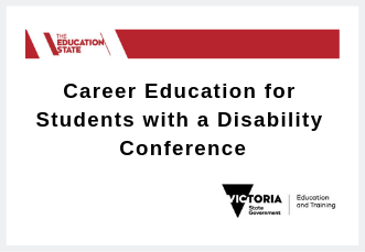 Career Education for Students with a Disability Conference